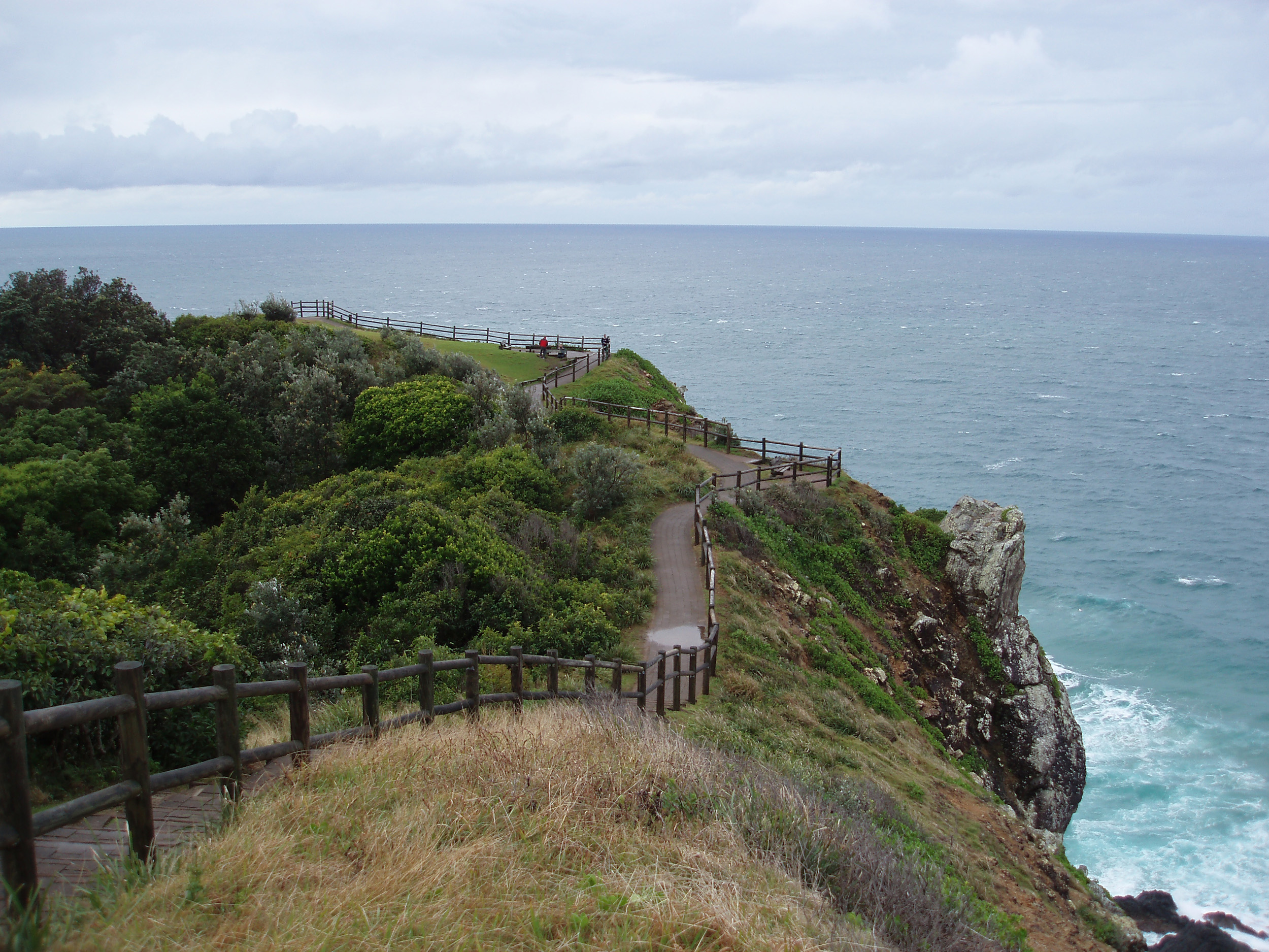 foot path down to mainland australias most easterly point at the end of cape byron