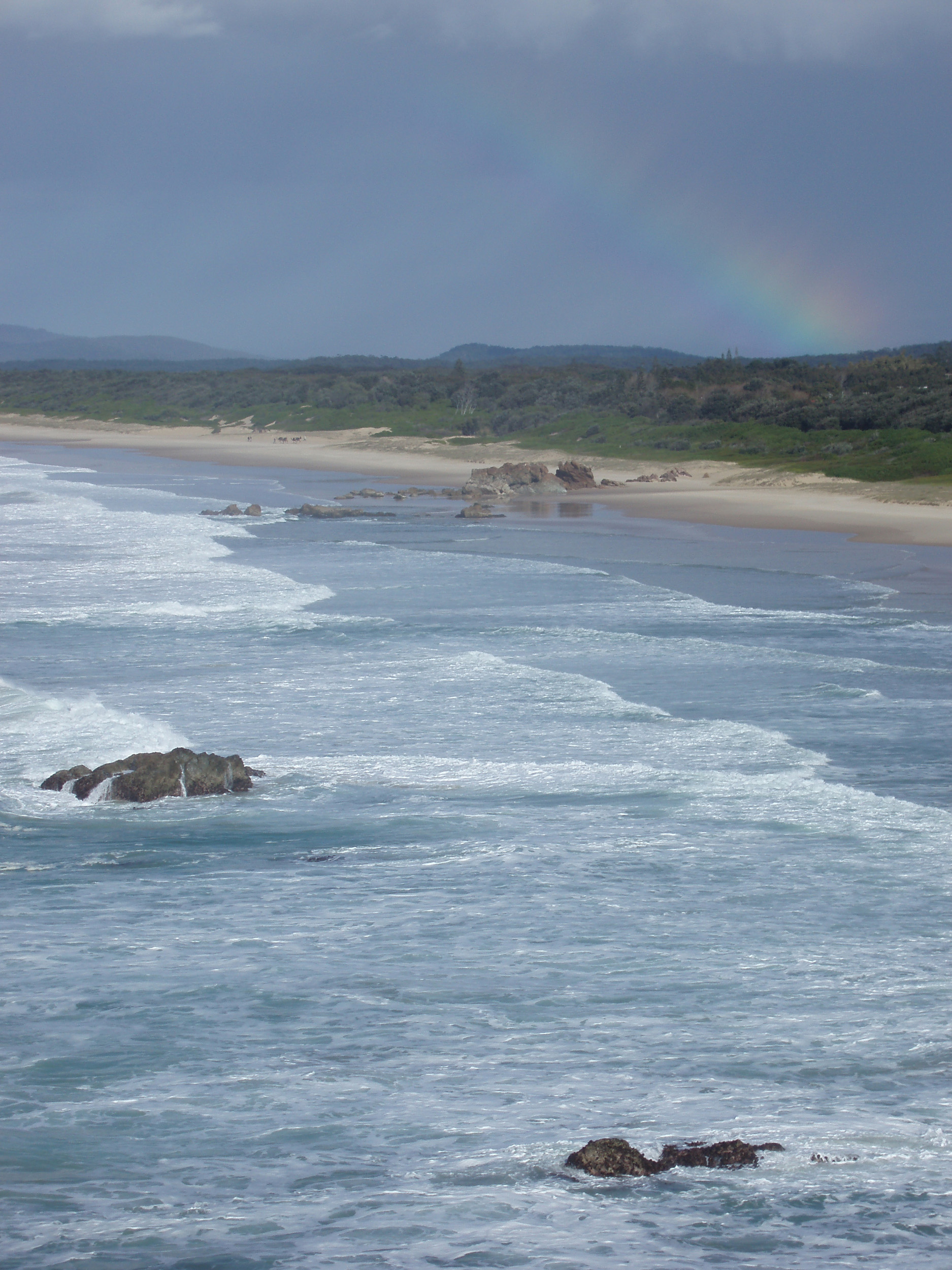 a rainy day over lighthouse beach, port macquarie, NSW