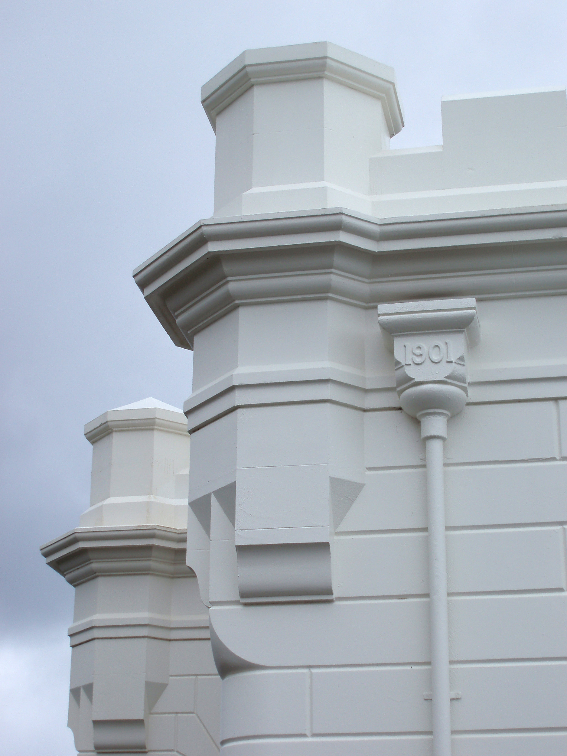 close up on the lighthouse on top of cape byron