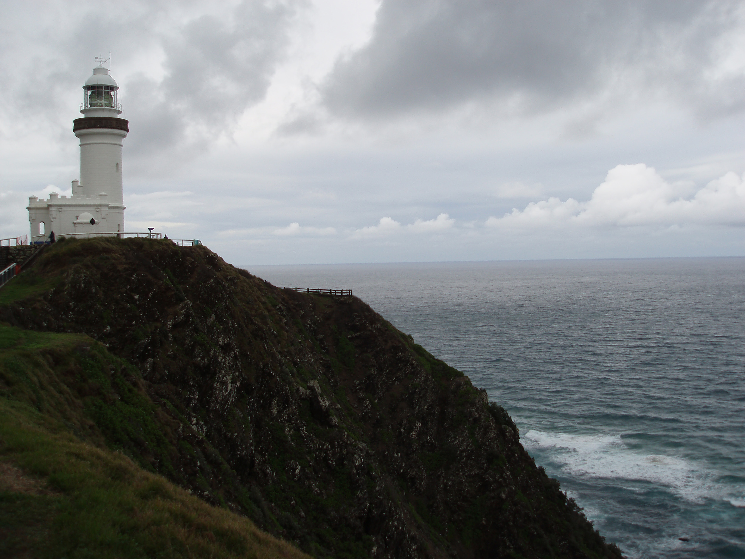 a stormy day of cape byron, australias easternmost point