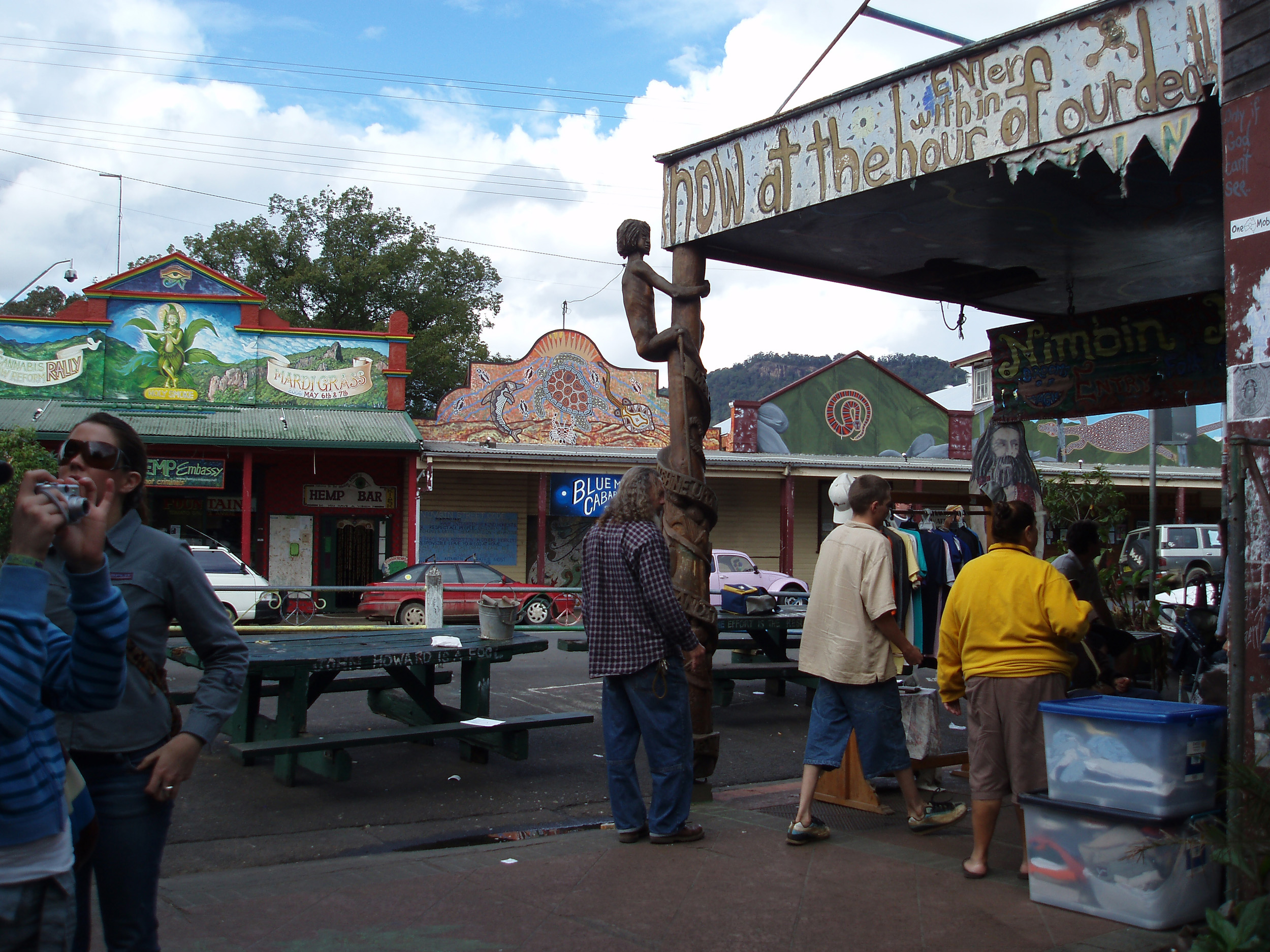 nimbin is a small town in northern new south wales famous for its relaxed attitude to life