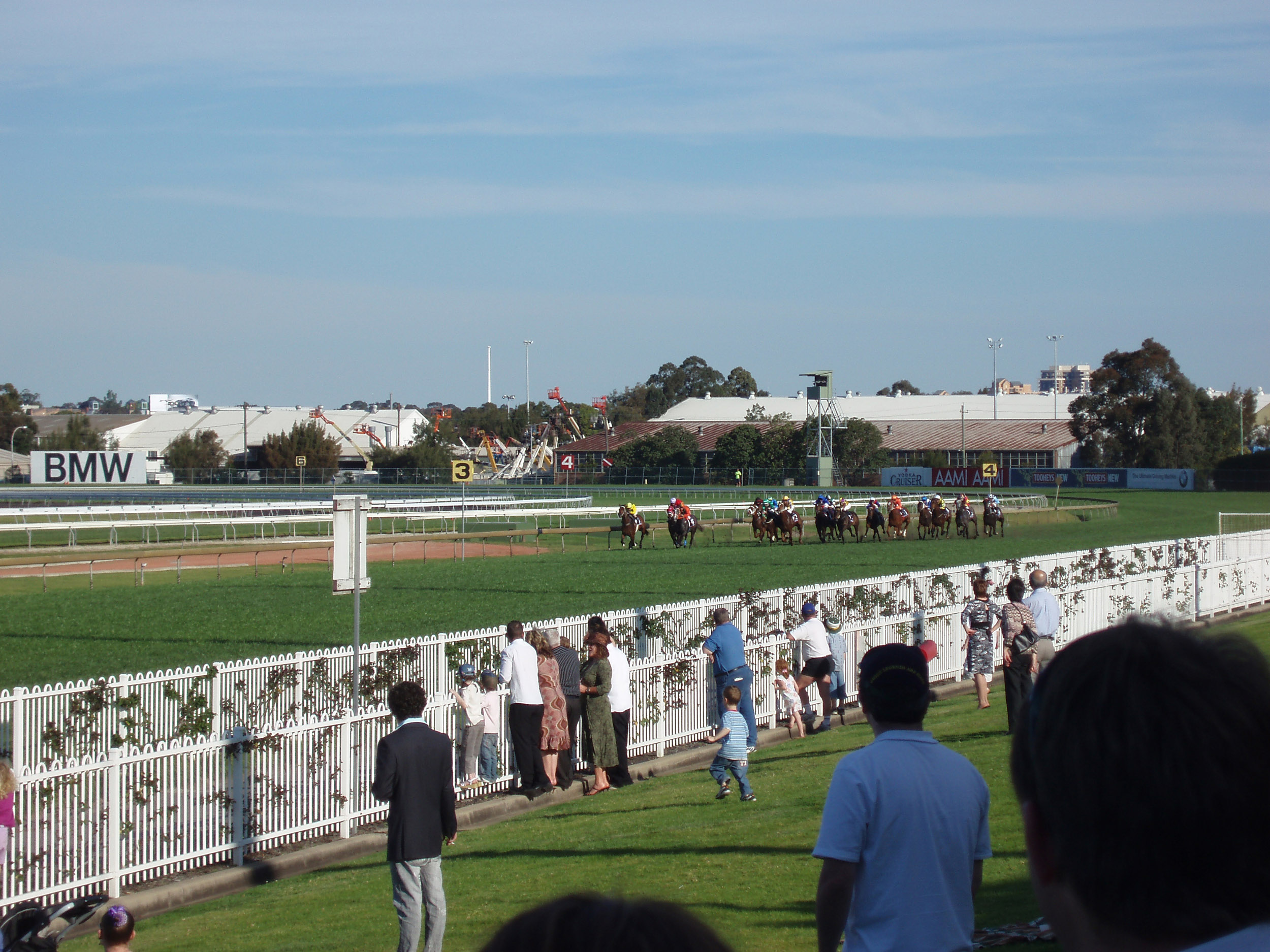horses racing on the rose hill race track, sydney, new south wales - not model relased