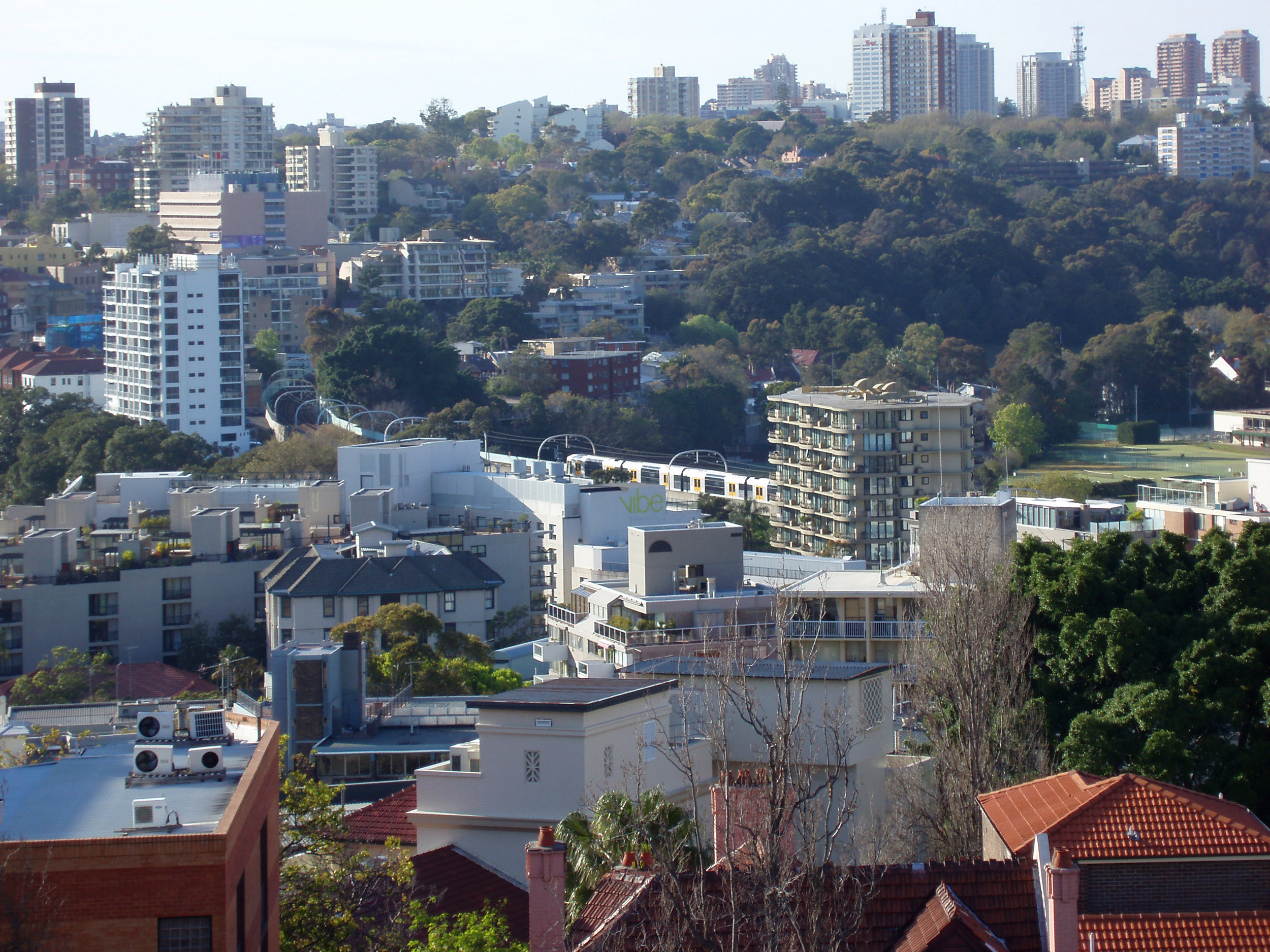 a view across rushcutters bay, an inner suburb of sydneys east