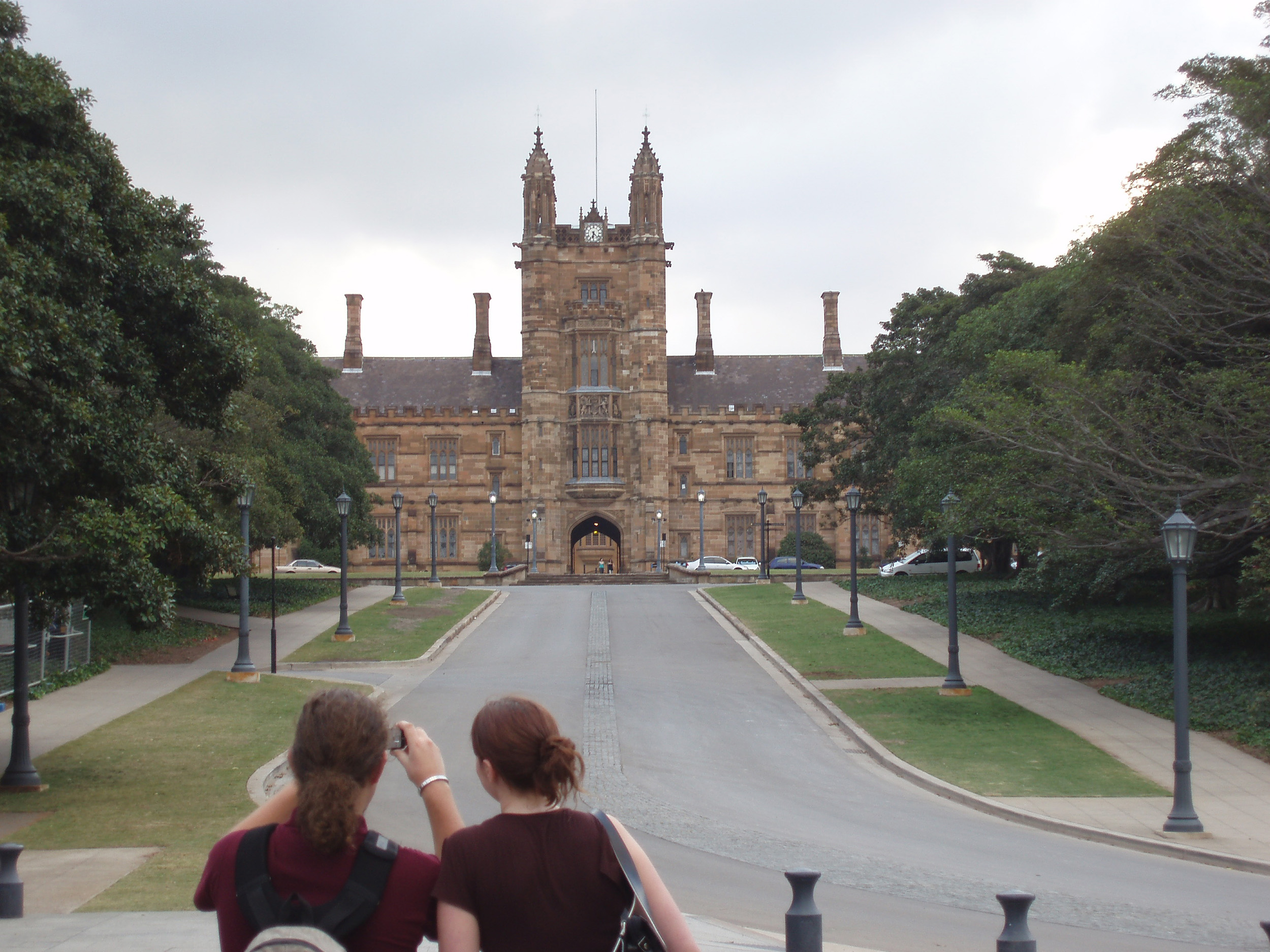 gothic revival buidings of sydney university quadrangle