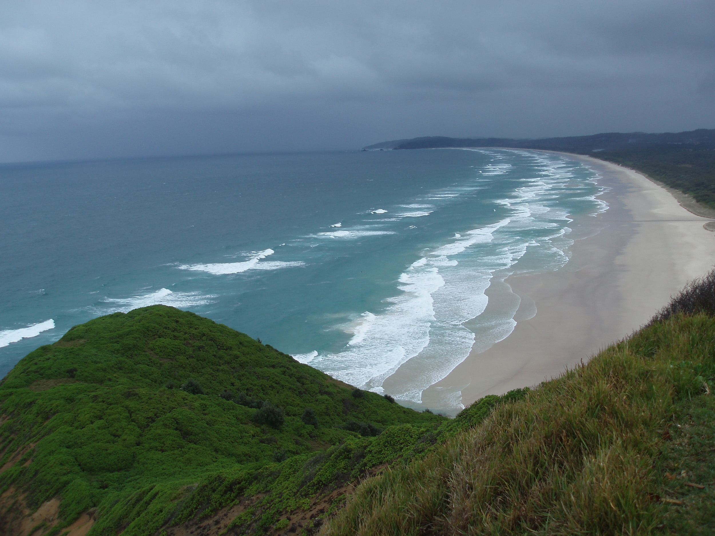 A stromy day over tallow beach, cape bryon, byron bay, NSW