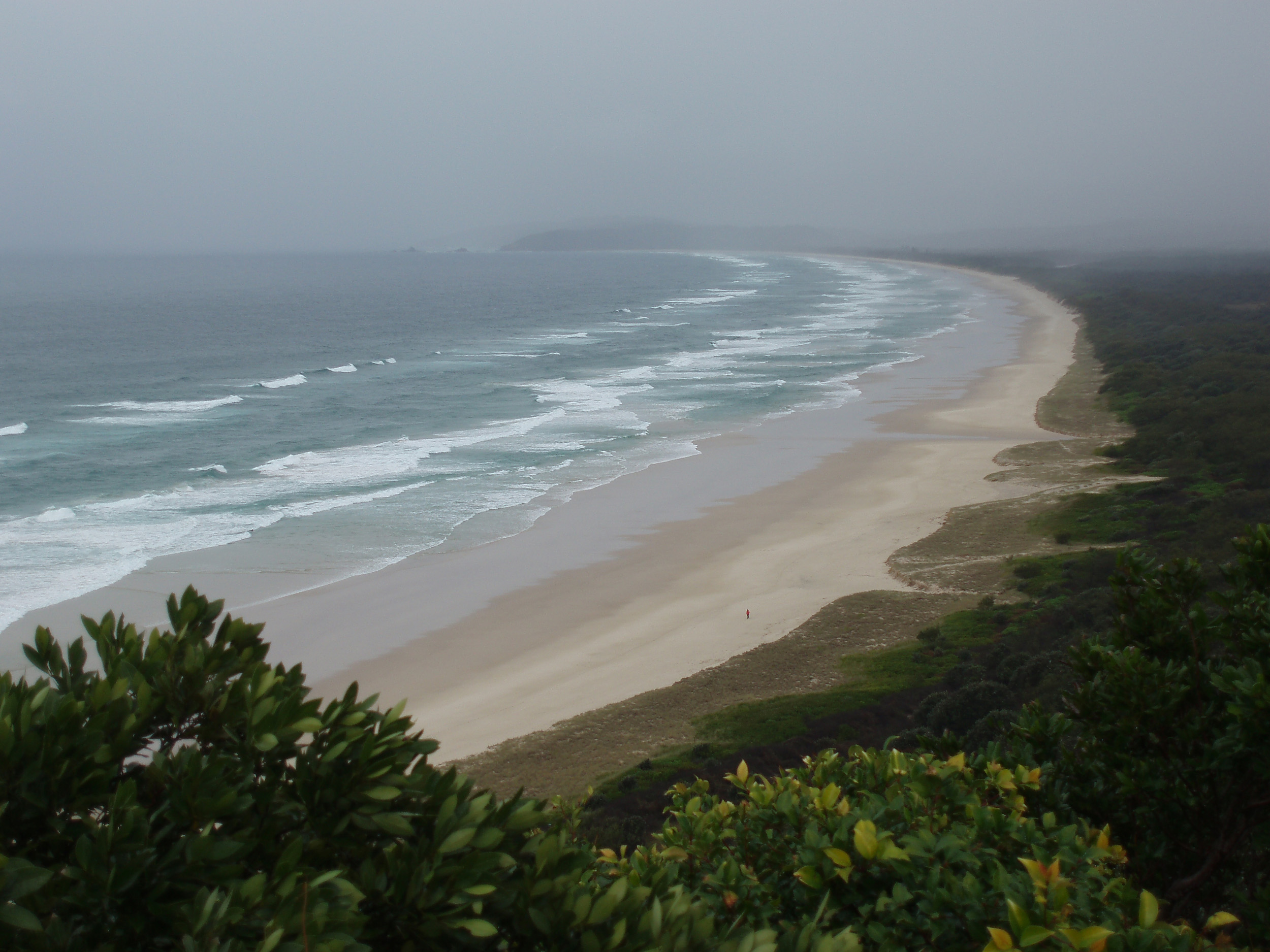 A stromy day at tallow beach, cape bryon, byron bay, NSW