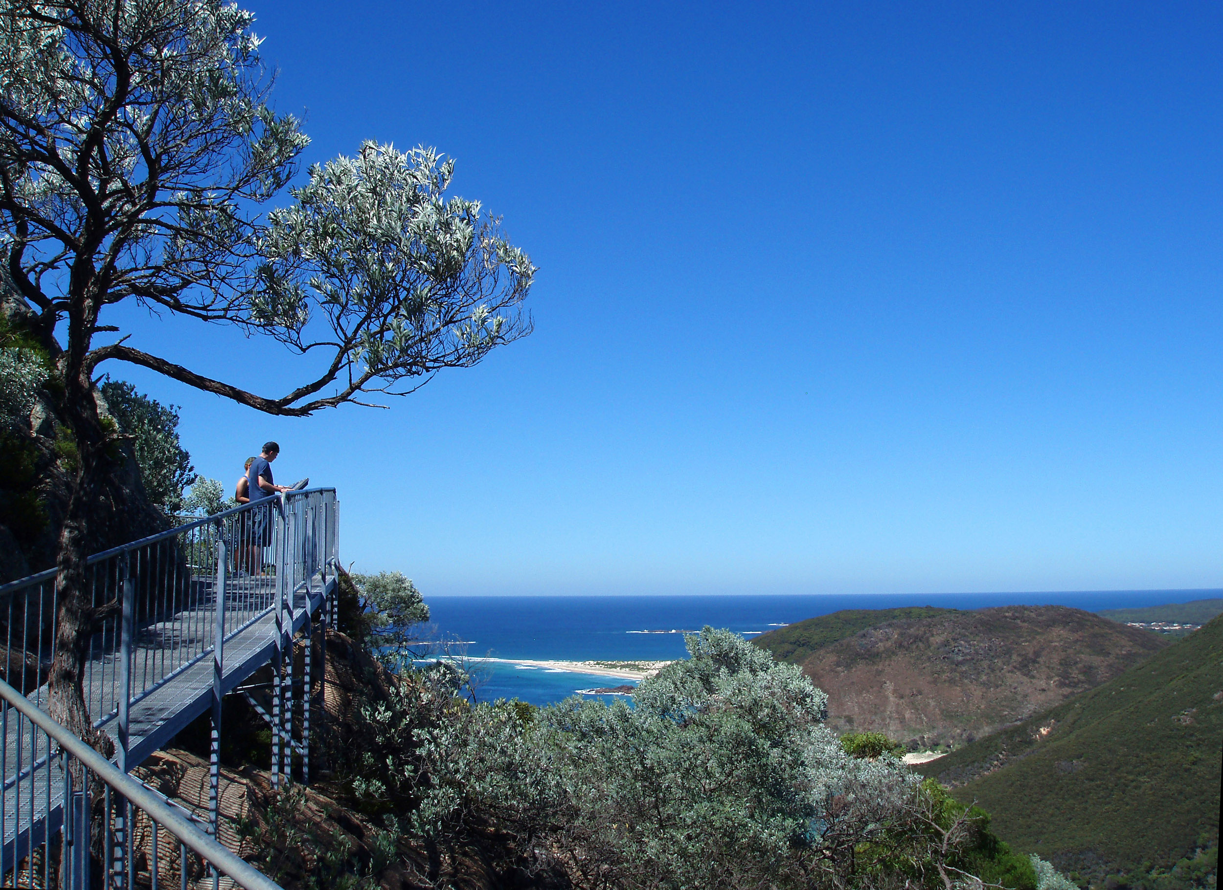 a view towards zenith beach from the tomaree head walkways