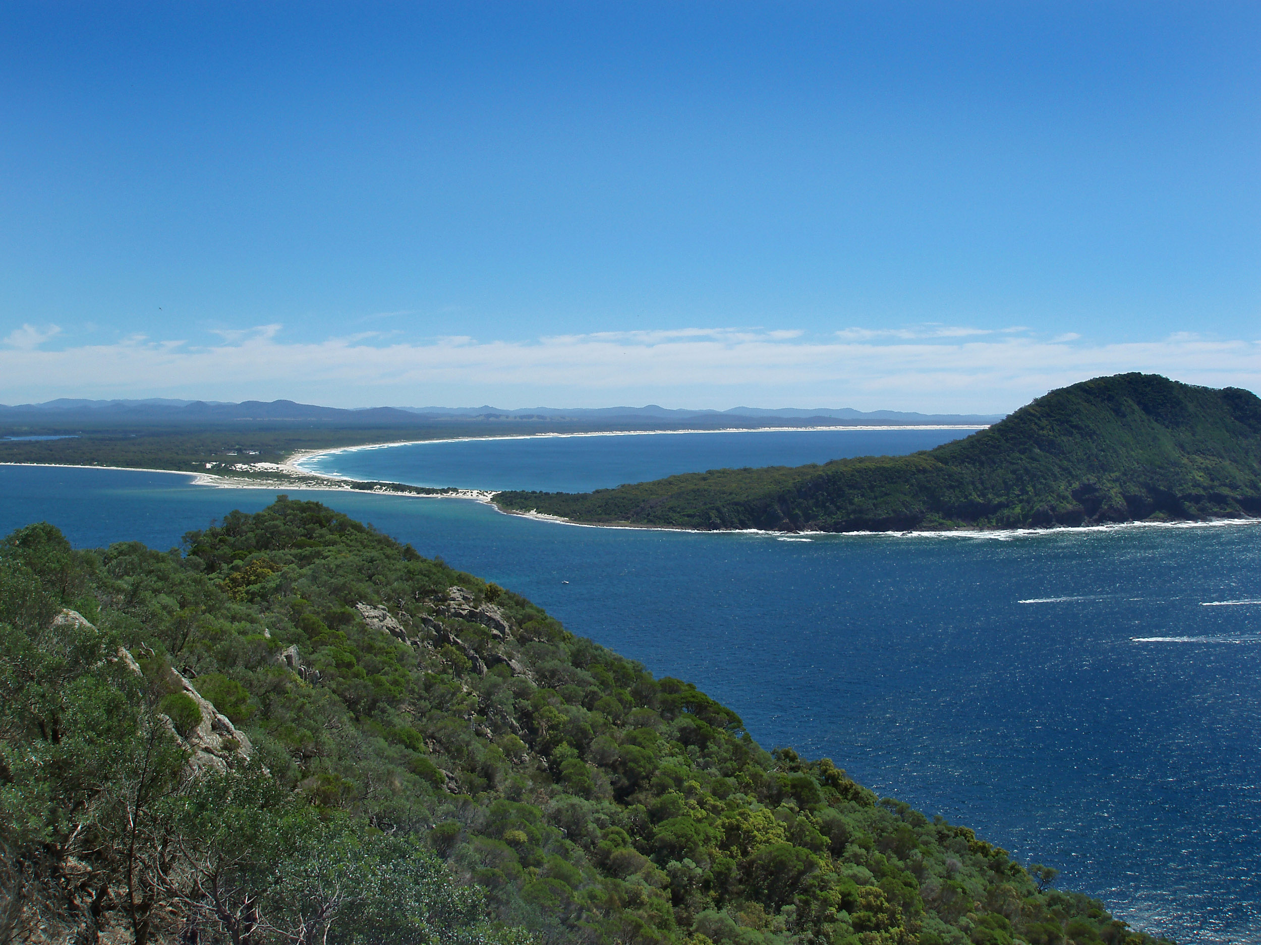 a view from tomaree head of wind woppa reserve