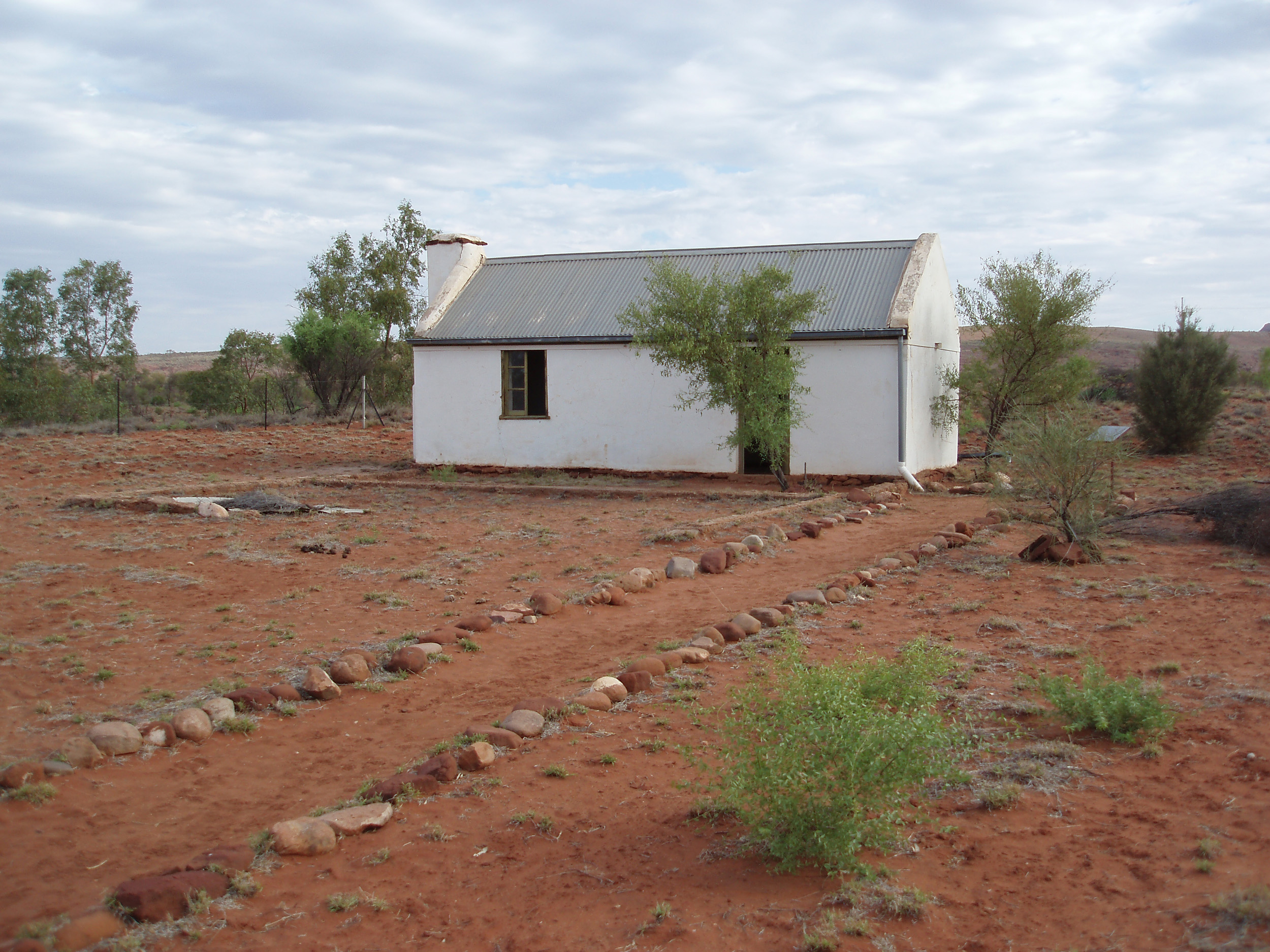 a small disused house in the desert