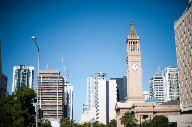 Photo of Brisbane Clock Tower on the City Hall Free australian