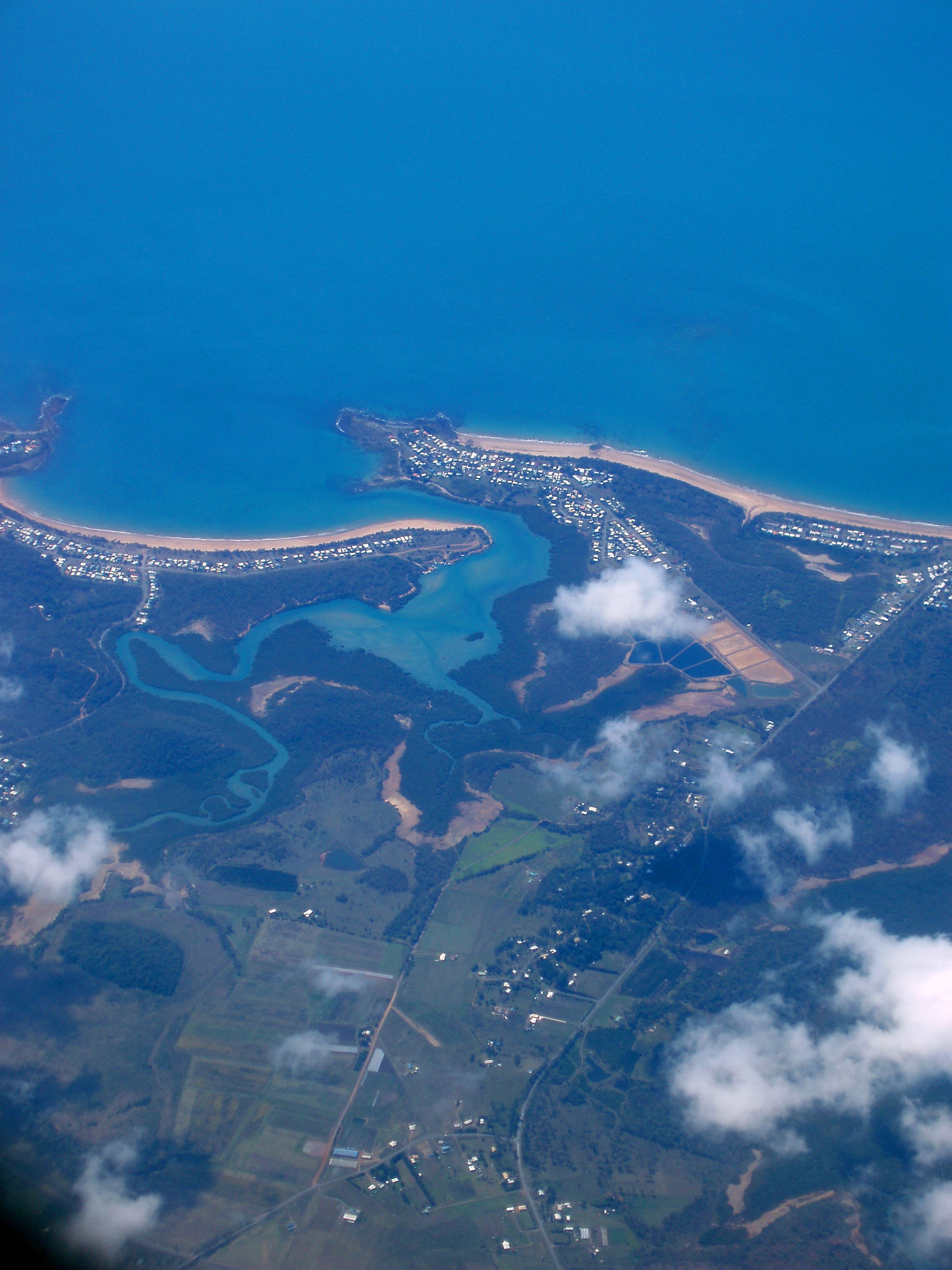 an aerial view of campwin beach, north queensland