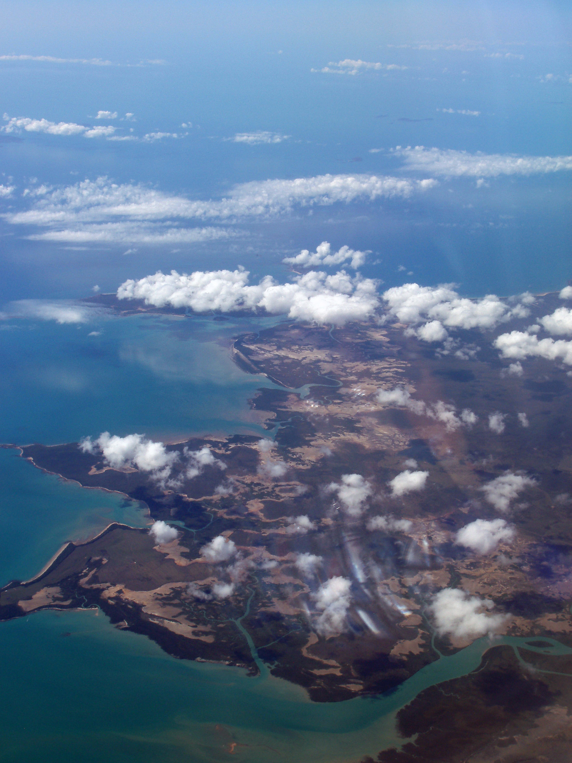 an aerial view of cape palmerston national park