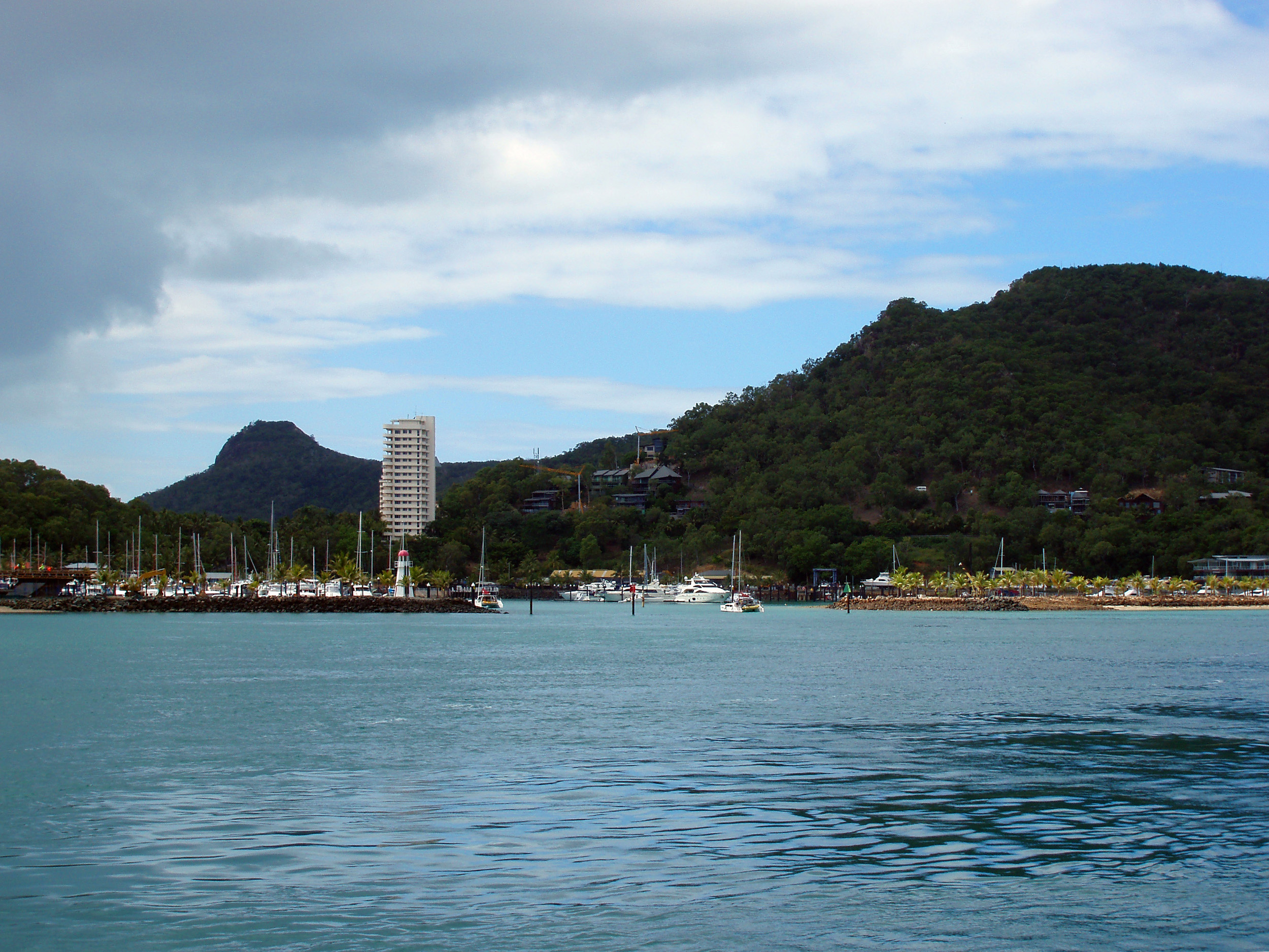 hamilton island marnina from the water