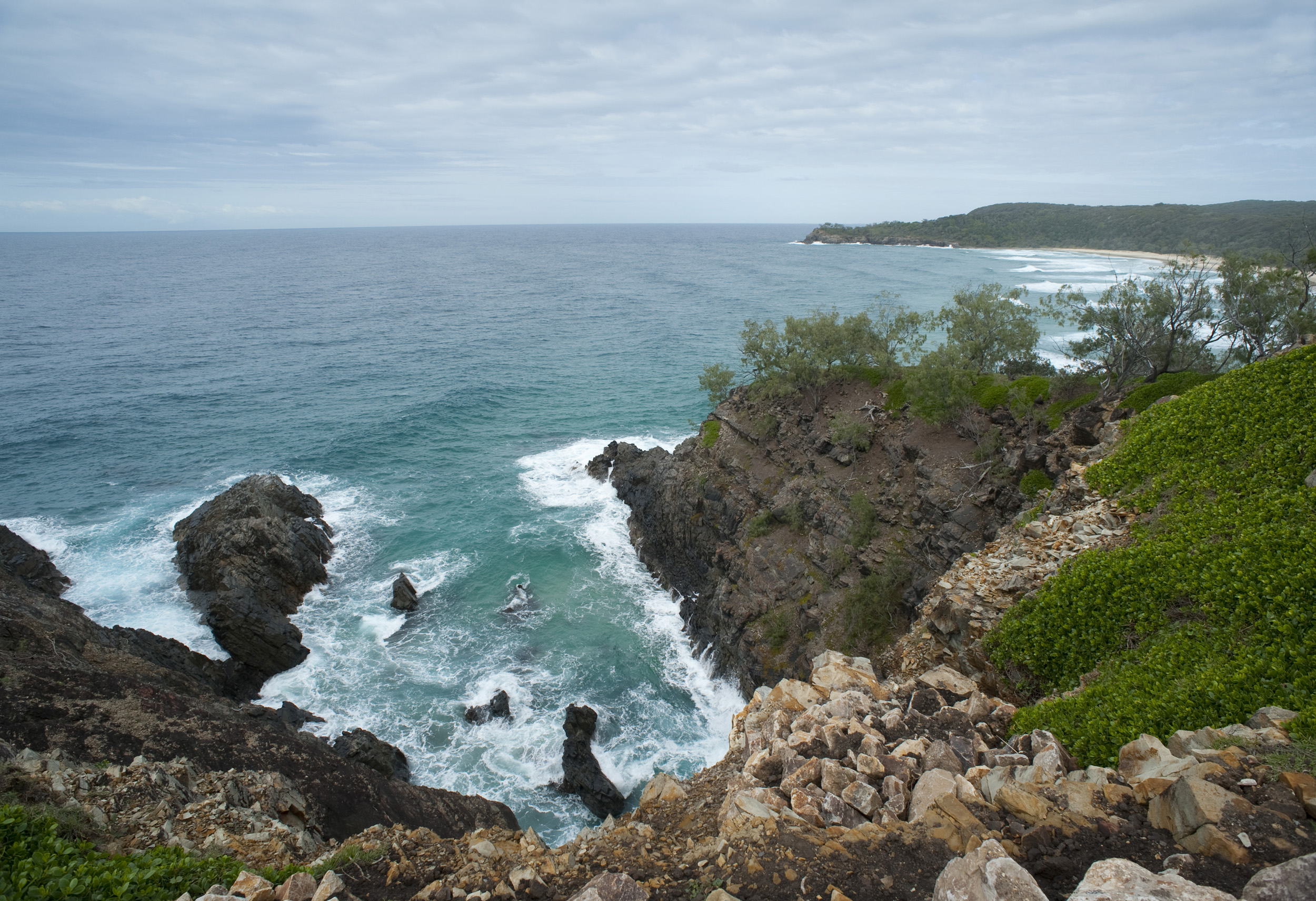 Hells Gates, an area of turbulent white water and rapids, and Alexandria Bay, Noosa in Queensland Australia