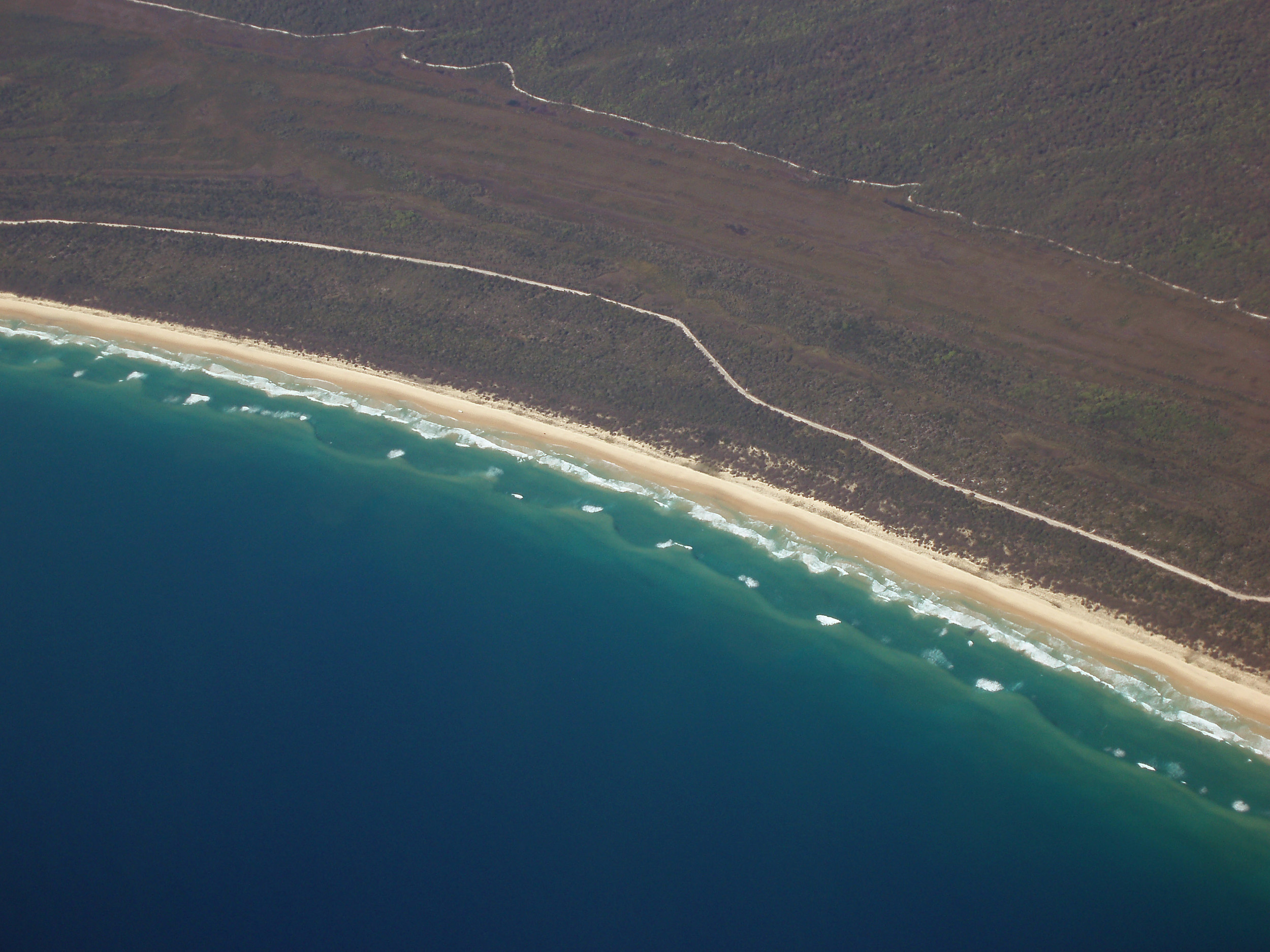 aerial view of the queensland coast