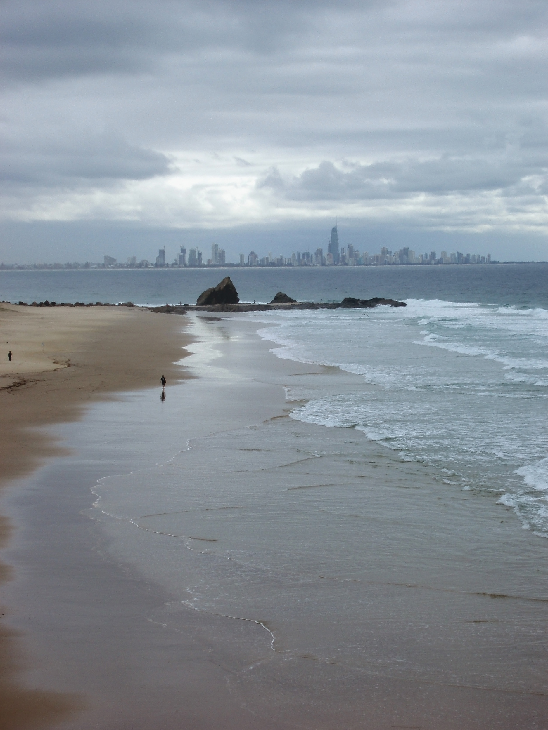 gold coast skyline on a stormy day