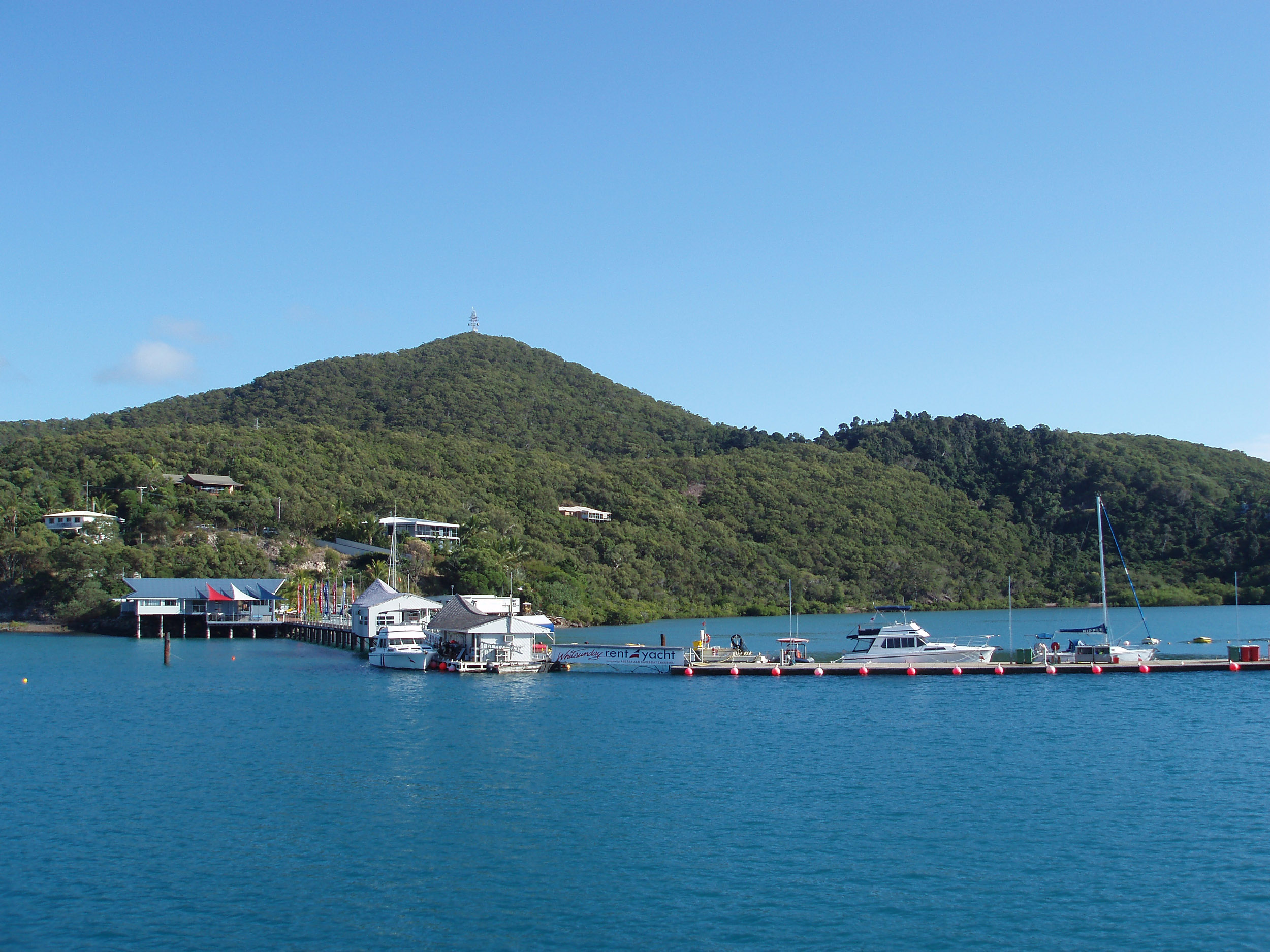boat jetty at shute harbour, whitsundays mainland, queensland