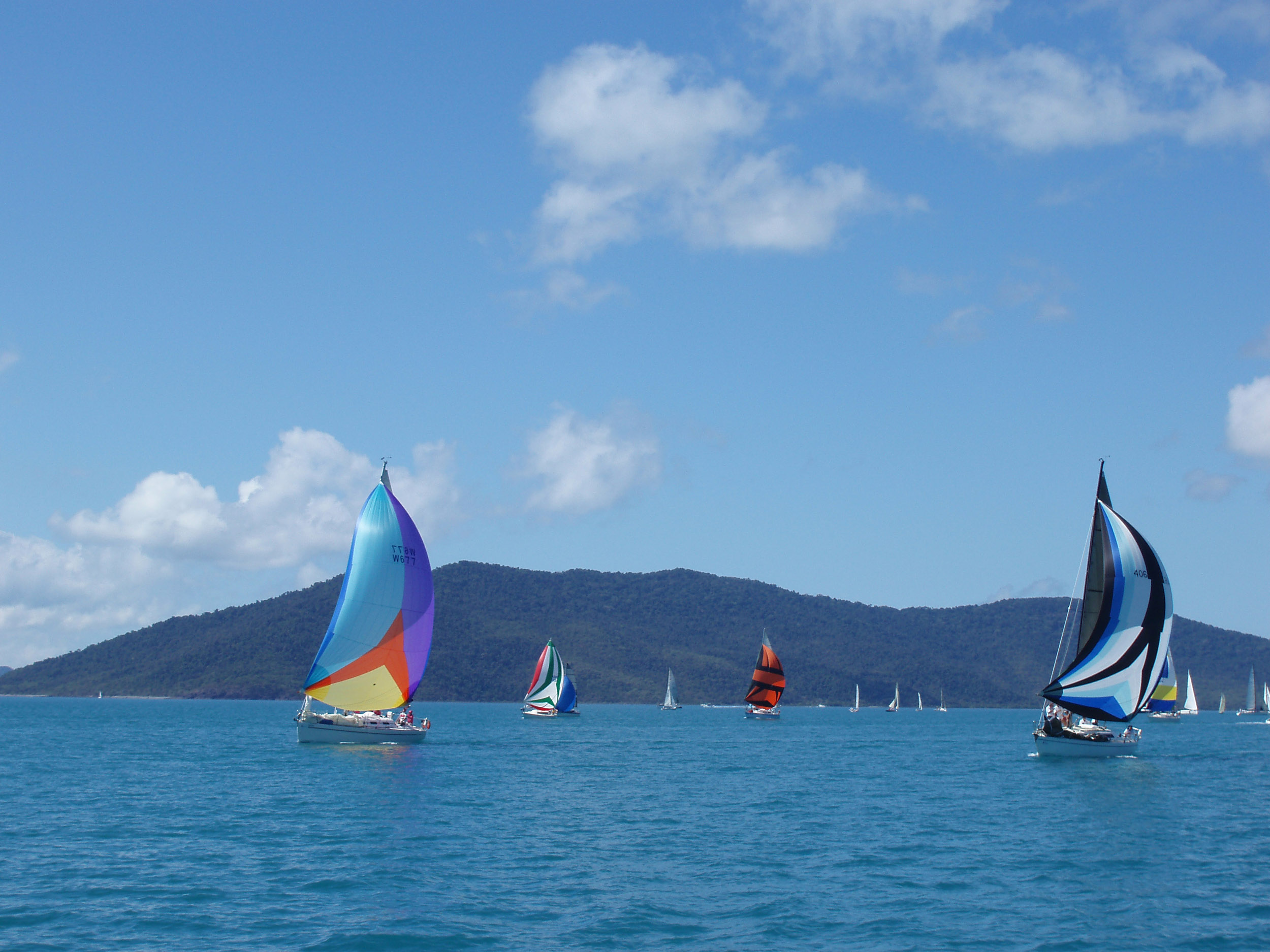 a division of boats sailing in the airle beach race week series