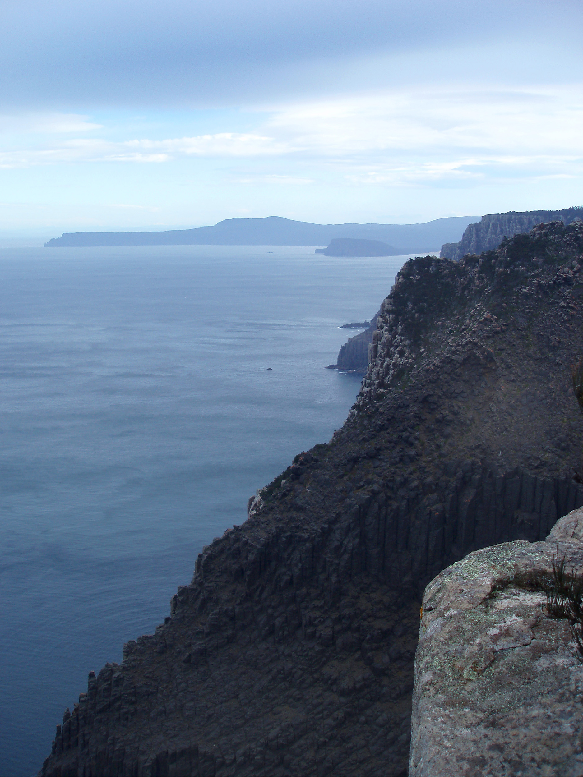 a distant view of cape raoul from cape pillar, tasman peninsula,