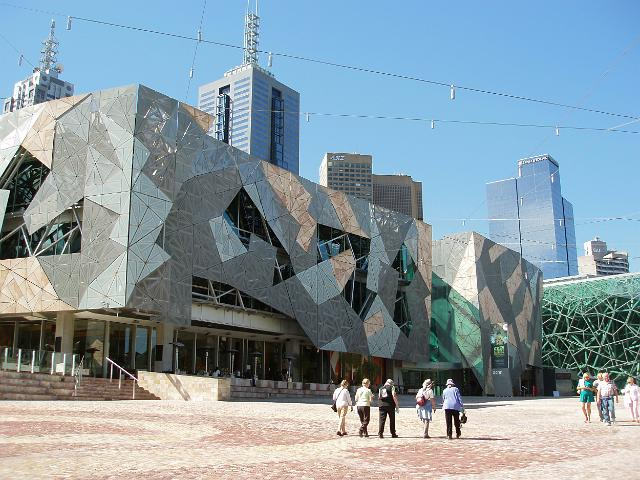 Modern Architecture Melbourne photo of federation square melbourne | free australian stock images