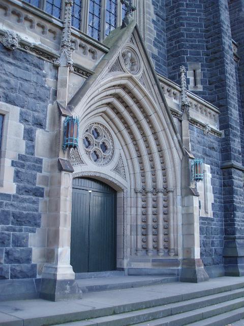 Gothic Revival Details And Entrance To Melbournes St Patrick 39 S