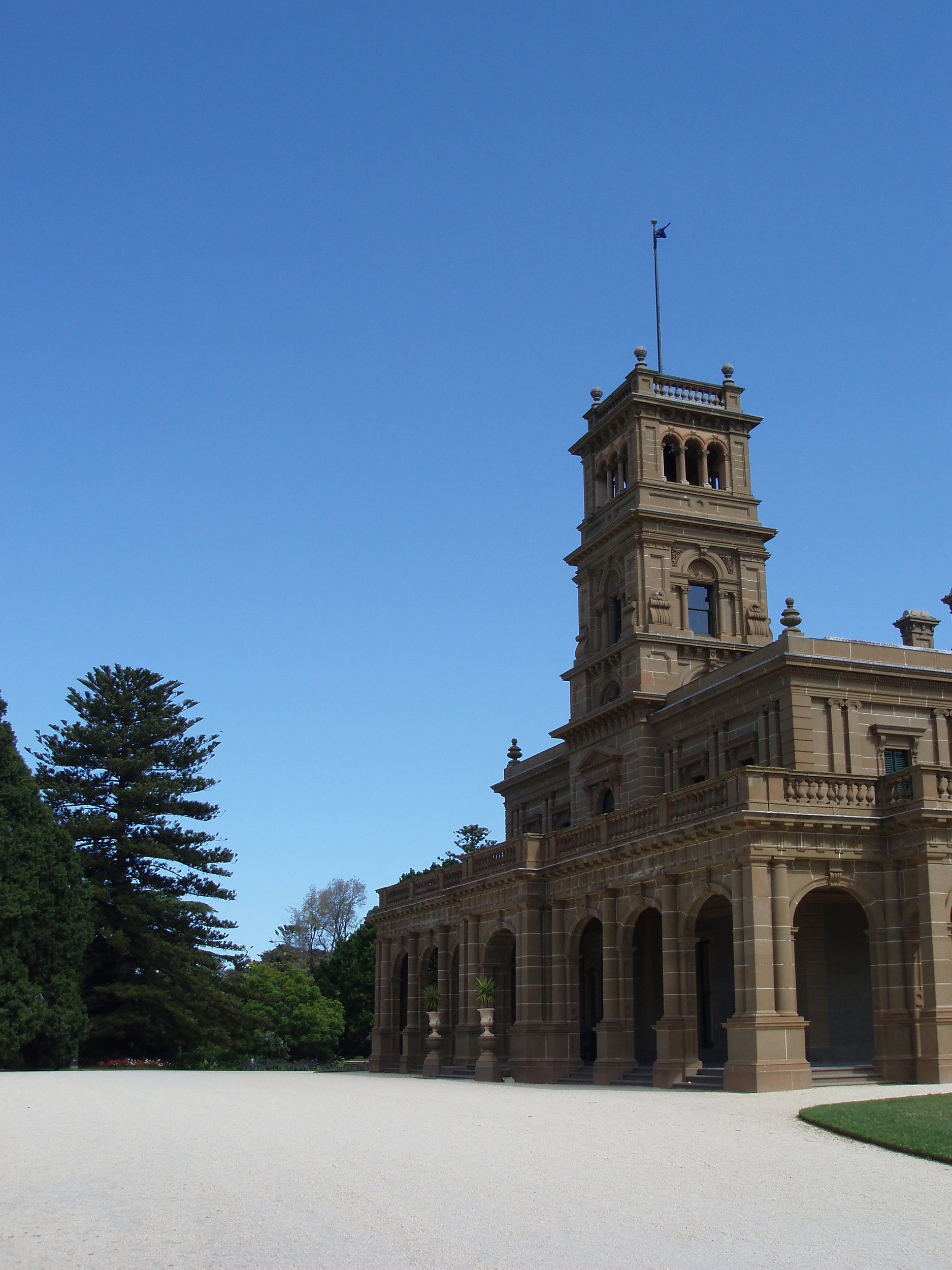italianate mansion building in werribee park, victoria,
