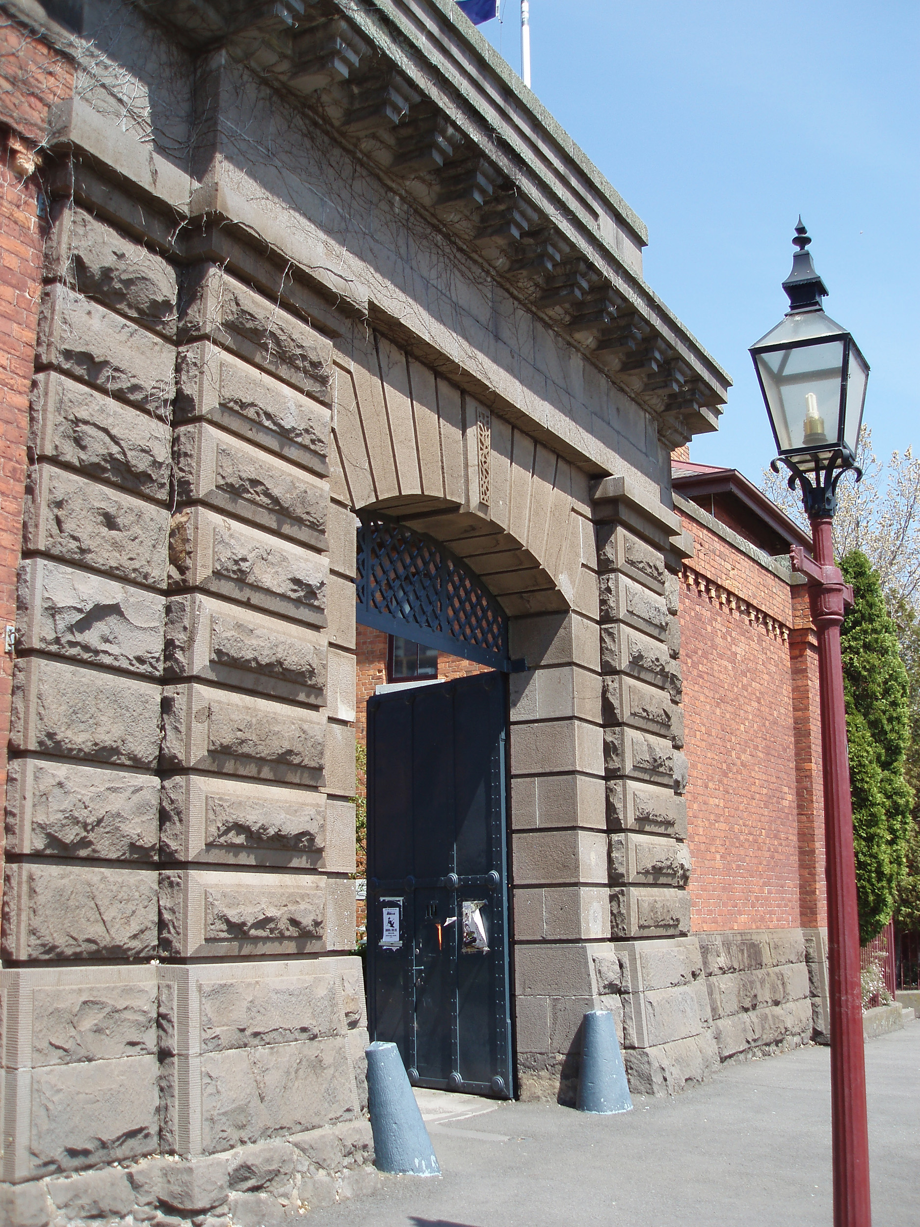 entrance gate to the old ballarat gaol building
