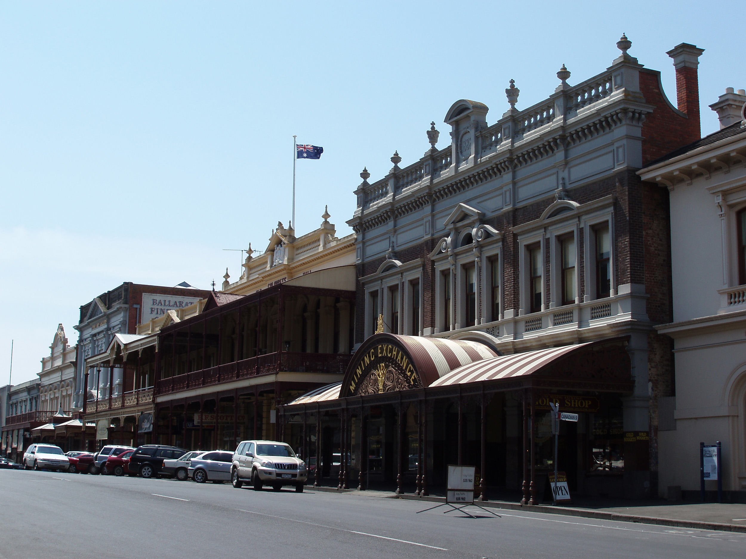 front of the historic gold mining exchange building in ballarat, victoria