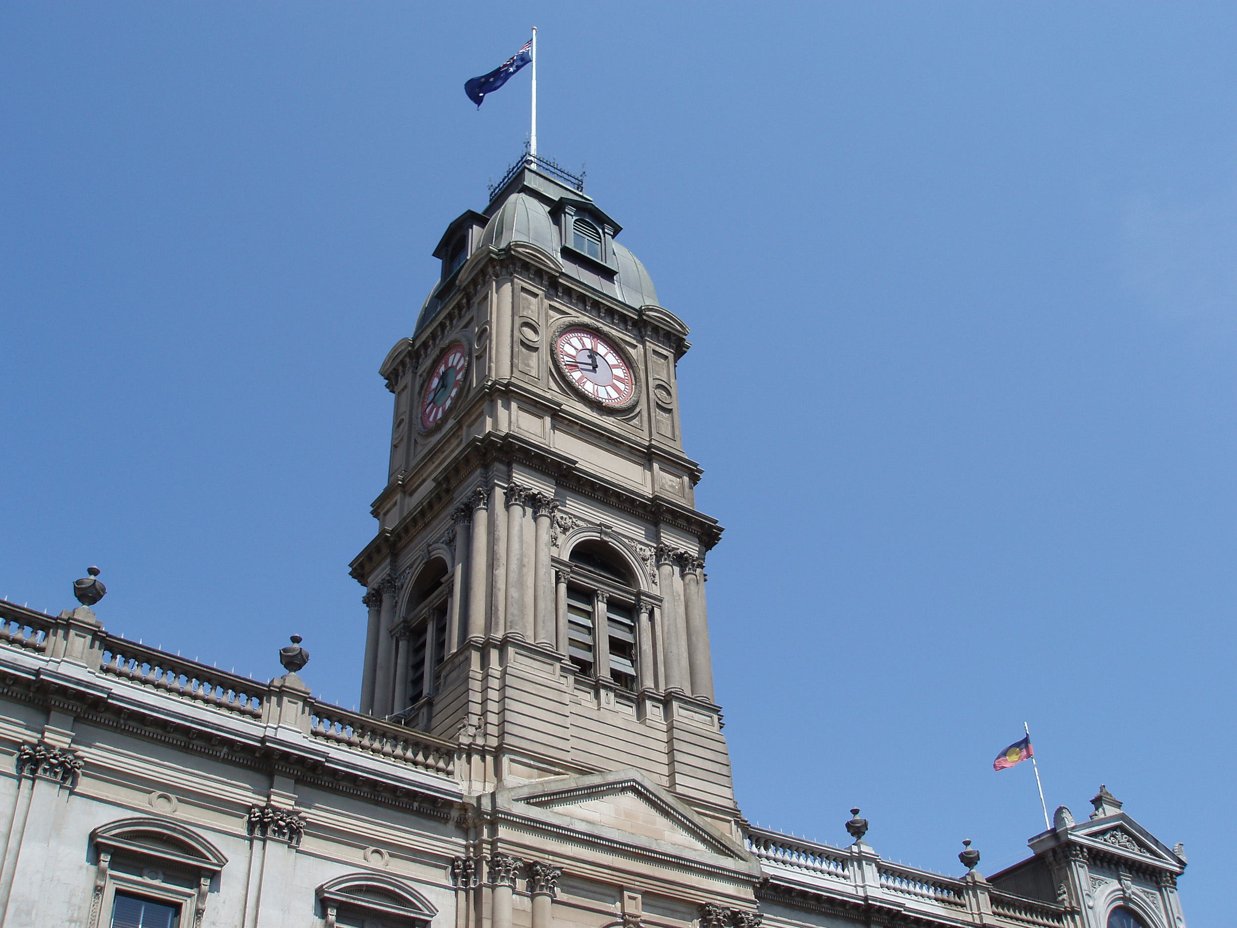 historic ballarat town hall completed in 1871