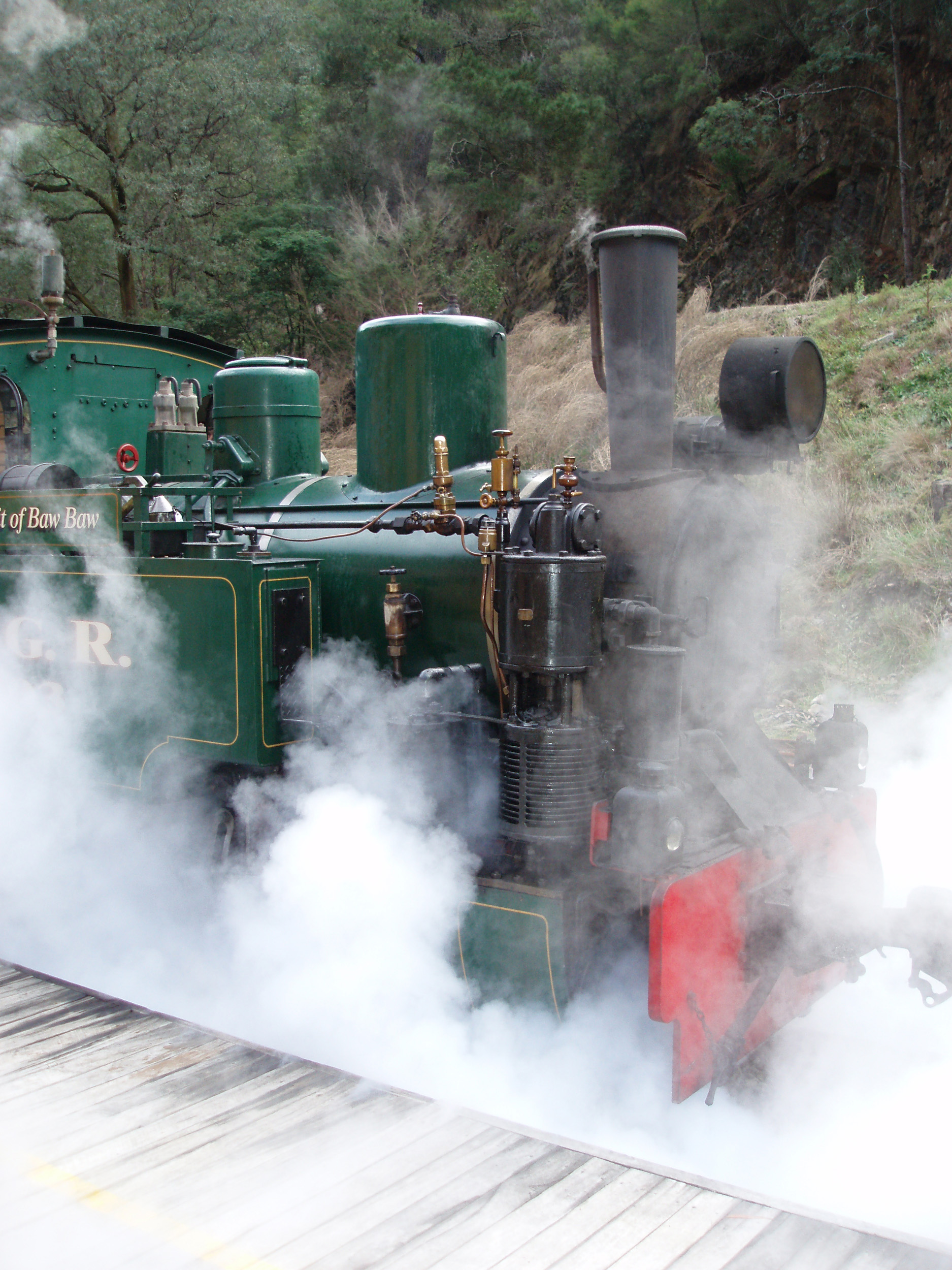 a steam locomotive on the walhalla goldfields railway