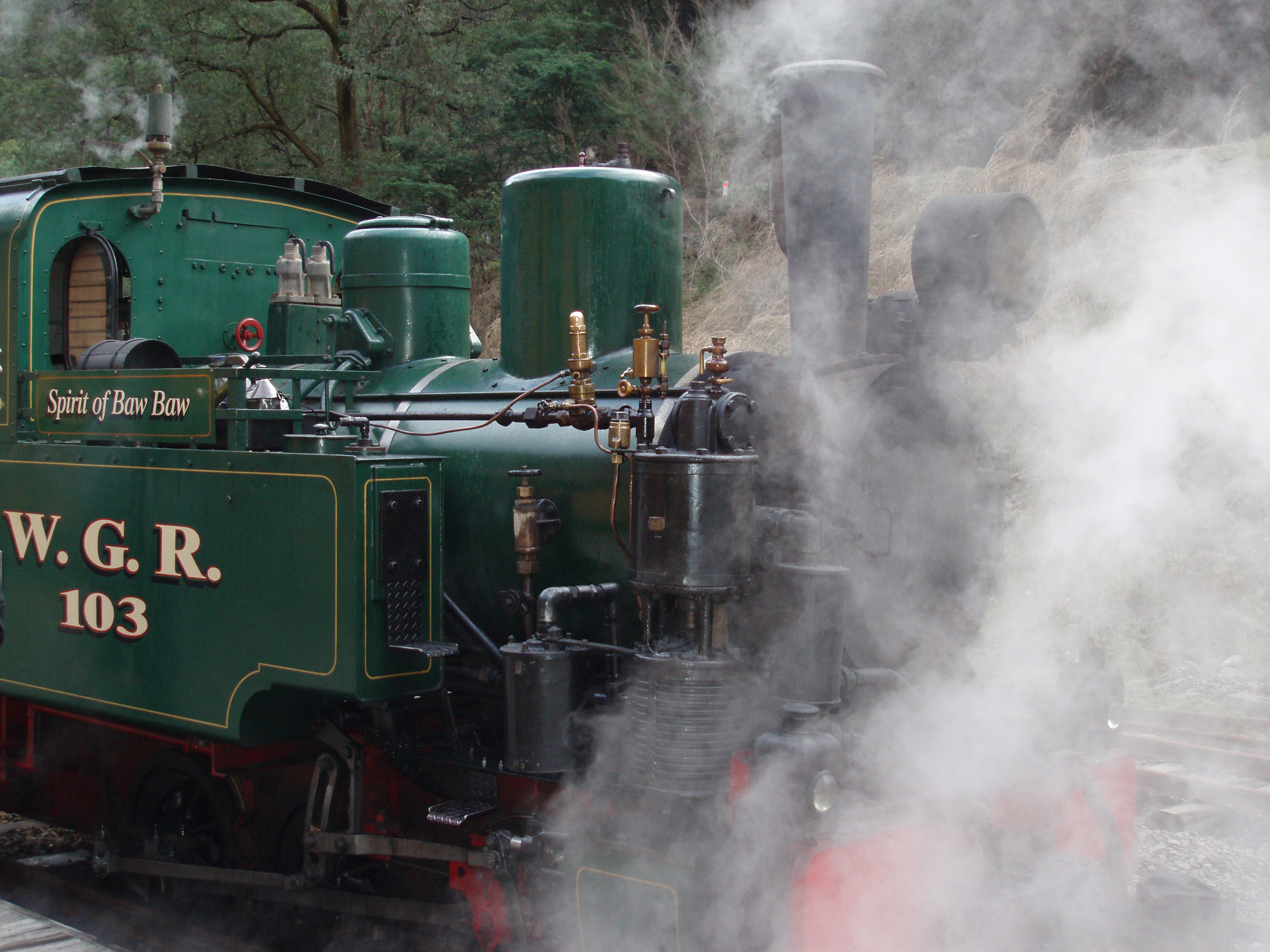 steam locomotive the spirit of baw bar on the walhalla goldfields historic railway