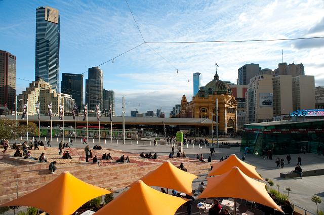 Photo showing summer in Melbourne